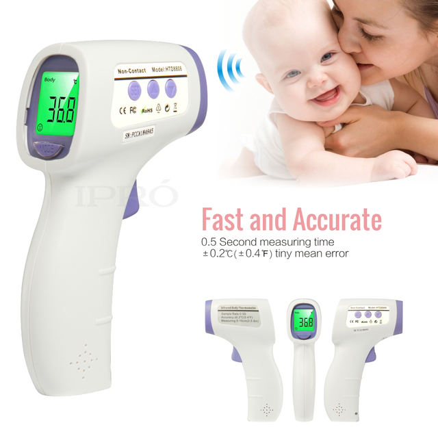 Digital Termomete Infrared Forehead Ears Body Baby Thermometer Gun Non-contact Temperature Diagnostic-tool Three Color Backlight