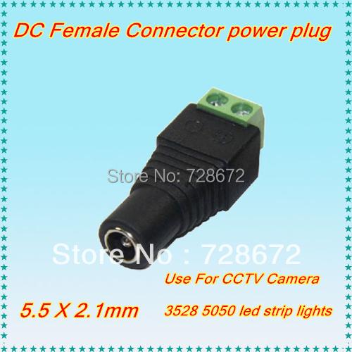 Intelligent 5 X Connecteur De Prise Femelle Dc Power 5.5x2.1mm Pour Câble De Caméras Et Bande Led Sans Soudure Conduire Un Commerce Rugissant