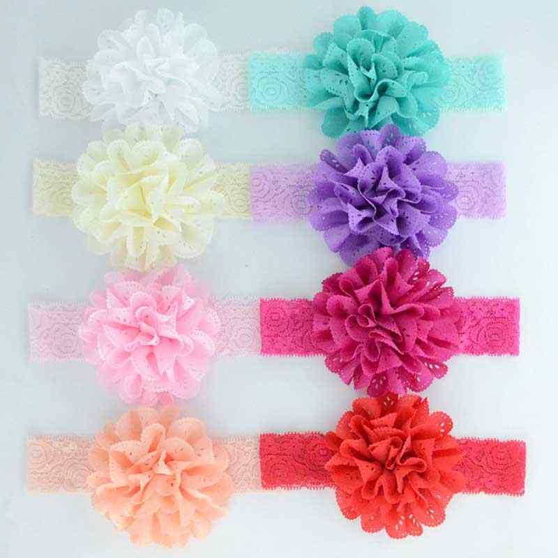 2c1ea9046f25 ... Rose Ribbon Hair Bands Handmade DIY Headwear Photo Prop 3D Flower  Hairband Kids Child Newborn Baby
