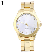 New! Sizzling Gross sales Unisex Males's Ladies's Gold Tone Alloy Strap Spherical Case Analog Quartz Luxurious Gown Watch Sizzling 5HPX