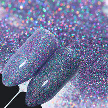 ФОТО starry holographic laser powder manicure nail art glitter powder used with uv gel polish nail manicure