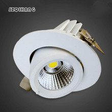 Free shipping Adjustable 10W/15W Warm white/Natural white/Cold White COB hight light  LED Gimbal Embedded led trunk lamp AC85-26