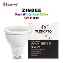 G светодиодный OPTO RGBWW/CW GU10 ZIGBEE ZLL 5 Вт Soposh RGB + двойной белый светодиодный spotlight AC100-240V работать со многими шлюзы