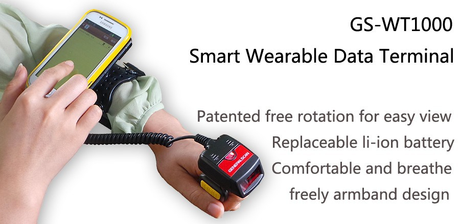 WT 1000 1D Wearable Bluetooth Finger Barcode scanner, ring barcode reader for Android smartphone&tablet, ring data capture