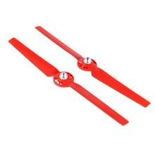 2 pcs Acessórios Peças Peso Leve ABS Durável CW CCW Hélice Para RC Drone Q500 Vermelho YH-17