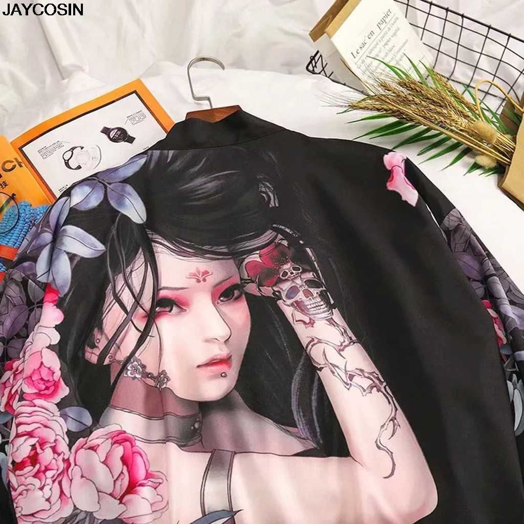 KLV mens חולצות קיץ אופנה אינדיבידואליות הדפסת חולצות חולצות קימונו מכירה לוהטת חולצות בגדי Mujer Boho קימונו קרדיגן 9418