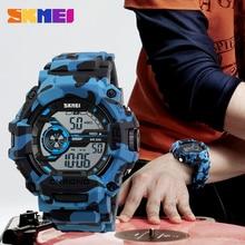 Marca de lujo skmei digital resistente al agua reloj de los hombres militar deportes relojes estudiante de moda casual de los hombres de natación vestido de pulsera led