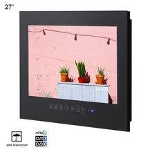 "Souria 27"" inch Full HD 1080 Waterproof Bathroom LED TV Shower TV IP66 Water-Resistant Display (Black/White)(China)"