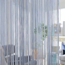 300x260cm Solid color Curtains Stripe White Blank Gray Classic Line Curtain Window Blind Valance Room Divider Door Decorative cheap Pastoral Yarn Dyed Ladder Rope Office Hotel Hospital Cafe Home Tube Curtain Perspective Ceiling Installation Left and Right Biparting Open