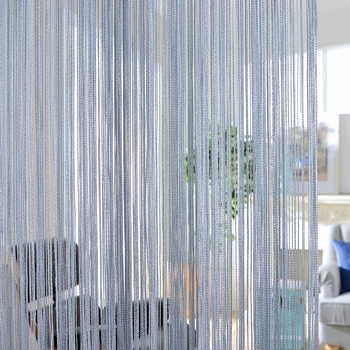 300x260cm Solid color Curtains Stripe White Blank Gray Classic Line Curtain Window Blind Valance Room Divider Door Decorative