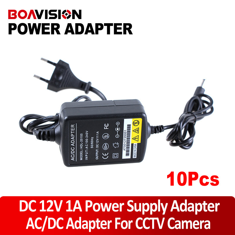 10pcs/lot DC 12V 1A Switch Power Supply Adapter For CCTV Camera 12v 5a 8ch power supply adapter work for cctv suveillance camera system dc 12v power supply 8 port dc pigtail coat
