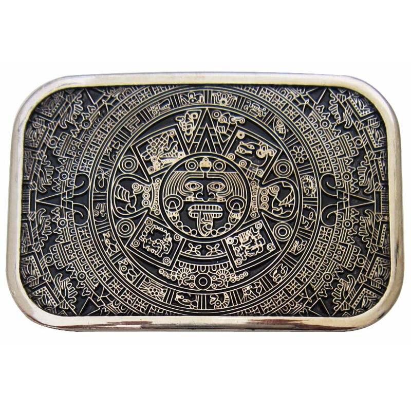 Aztèque Calendrier Maya Ceinture Boucle