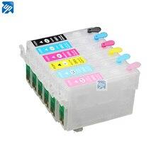 T0801 перезаправляемый картридж для epson P50 PX650 PX700 PX800 PX710 PX720 PX810 PX820 R265 R285 R360 RX560 RX585 принтер