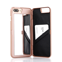 6S Slim Leather Hard Back Card Slots Cover For Apple Iphone 6 6S Fashion Lady Makeup
