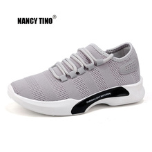 NANCY TINO Breathable Men Sport Shoe Lightweight Cushion Sneakers Walking Shoes Mens Classic Outdoor Sports Mesh Lace-Up