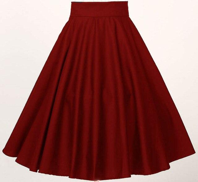 Aliexpress.com : Buy free ship plus size retro skirts black red ...