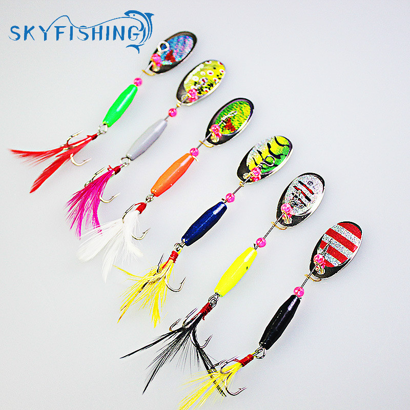 6pieces/lot Droppen Spoon Fishing Lure 7g Spoon Bait ideal for Bass Trout Perch pike rotating Fishing 10pcs 21g 14g 10g 7g 5g metal fishing lure fishing spoon silver and gold colors free shipping