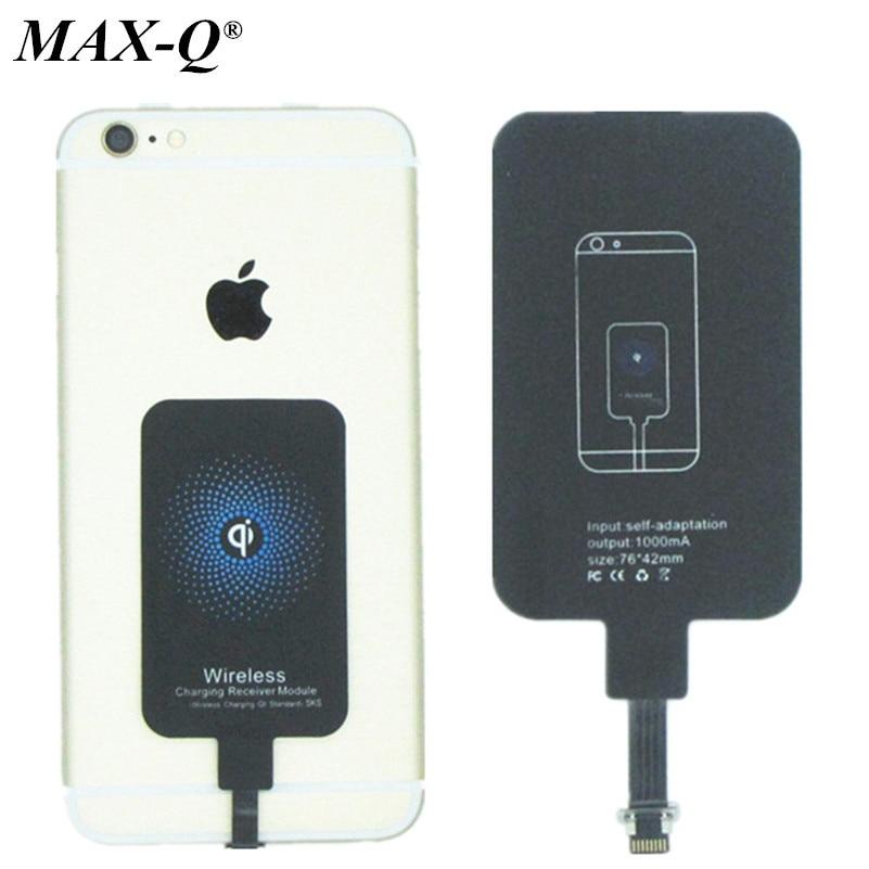 Qi wireless-ladegerät receiver wireless charging adapter für iphone 5 5 s 6...