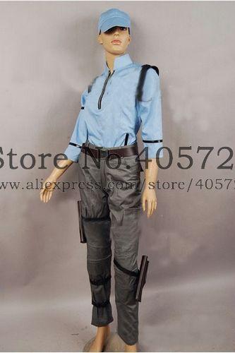 Resident Evil 5 Jill Valentine Bsaa Uniform Costume In Anime