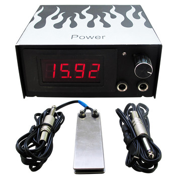 1set Tattoo Power Supply Kit Cheap Tattoo Power Supply Foot Pedal Switch Silicone Clip Cord Tattoo Kit Supply Free Shipping wholesale price stainless steel foot switch pedal tattoo clip cord for tattoo mahcine tattoo power supply free shipping