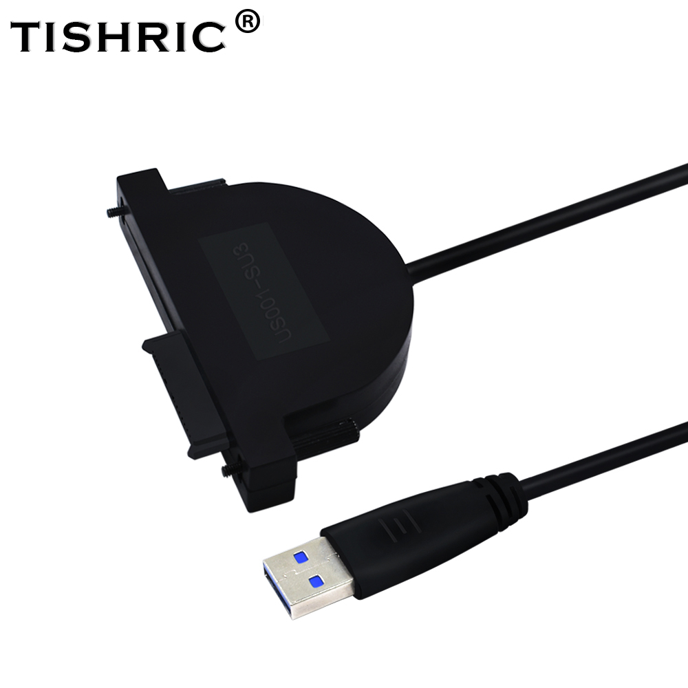 все цены на TISHRIC Molex 7+6 13pin Mini SATA III to usb 3.0 Adapter Cable External Optical Drive With Led Converter For Laptop CD DVD ROM