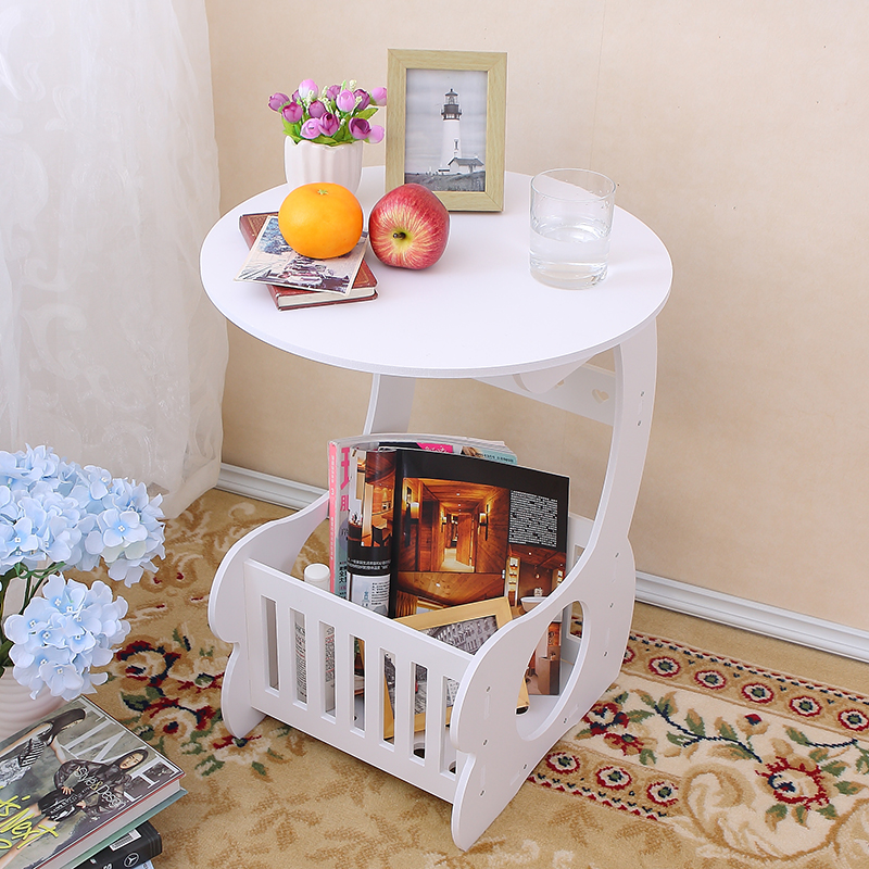 Round Coffee Table With Storage Singapore: Table Magazine Coffee Balcony Round Tea Table Creative