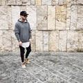 Novo 2017 homens streetwear mens t-shirts moda hip hop clothing roupas camisa lisa T kanye West Curvo hem tee 5 cores S-XXL