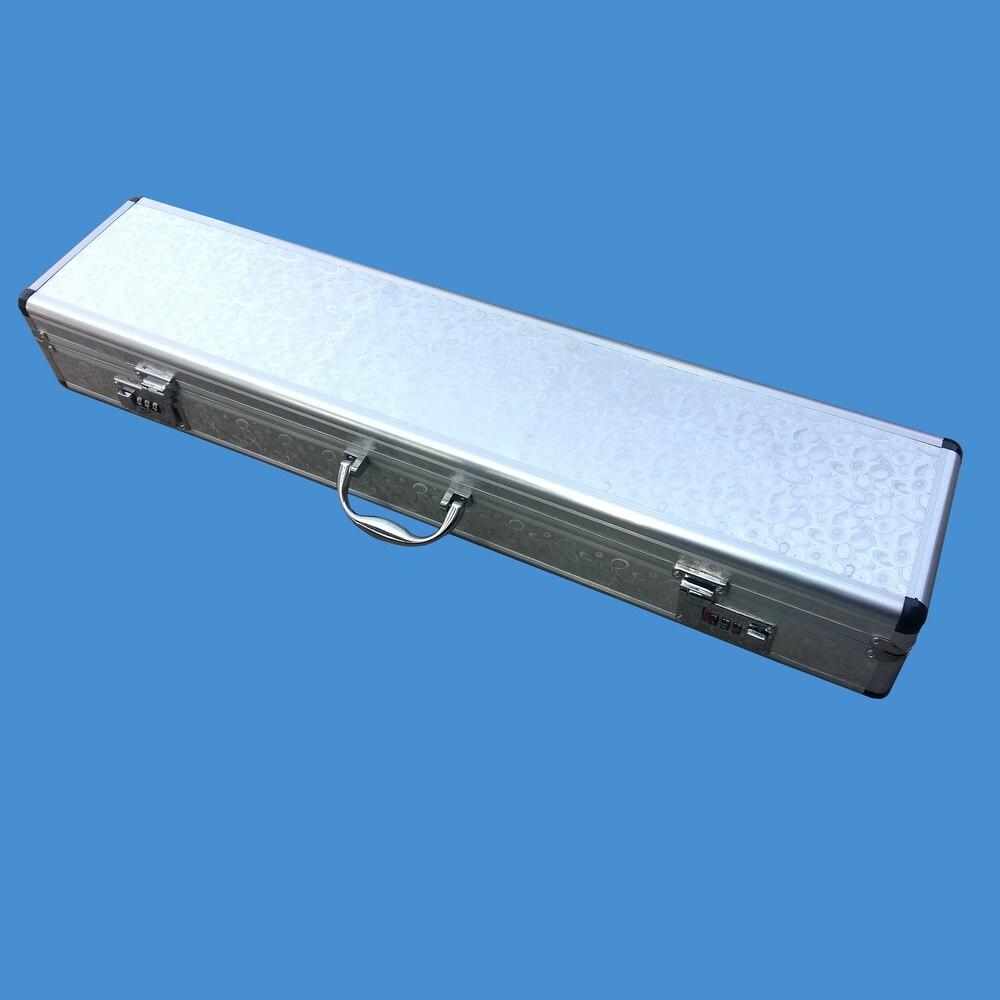 Boîte de verrouillage à Double mot de passe en aluminium de 70/80 cm peut contenir quatre accessoires de pêche à la canne à pêche