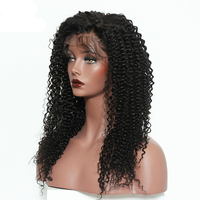 Kinky Curly Lace Front Human Hair Wigs For Women Brazilian Virgin Hair Lace Frontal Wig Pre Plucked 130% Density Cara