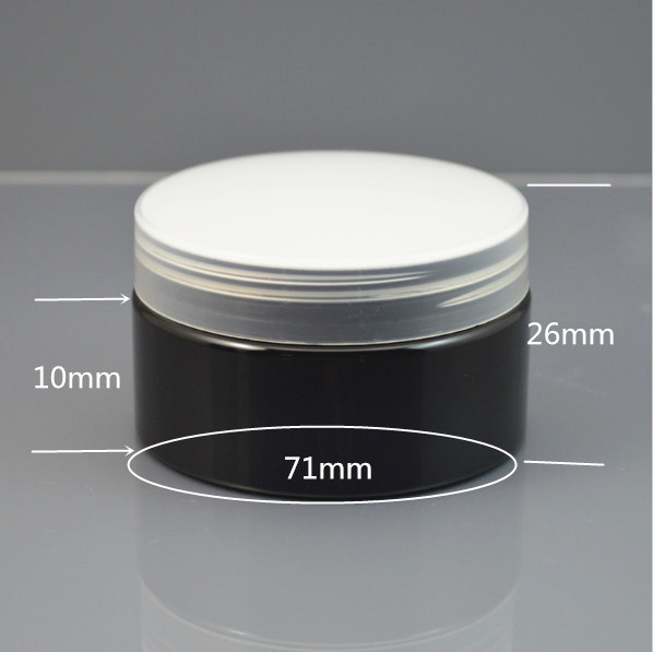 100ps/lot 100g Black container Plastic Cream Jar,3.5oz  empty plastic Cream container with lids black currant extract 100g lot
