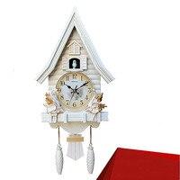 Modern Creative Cuckoo wall clock Lovely Children's Room Clock in Living Room Bedroom Cartoon Silent Quartz Clock