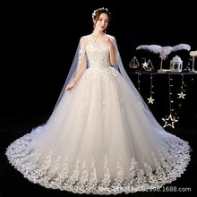 Robe De Mariee Gorgeous Wedding Dresses Ball Gown O Neck Lace Up With Jacket Appliques Mariage Bride Dresses Casamento 2020
