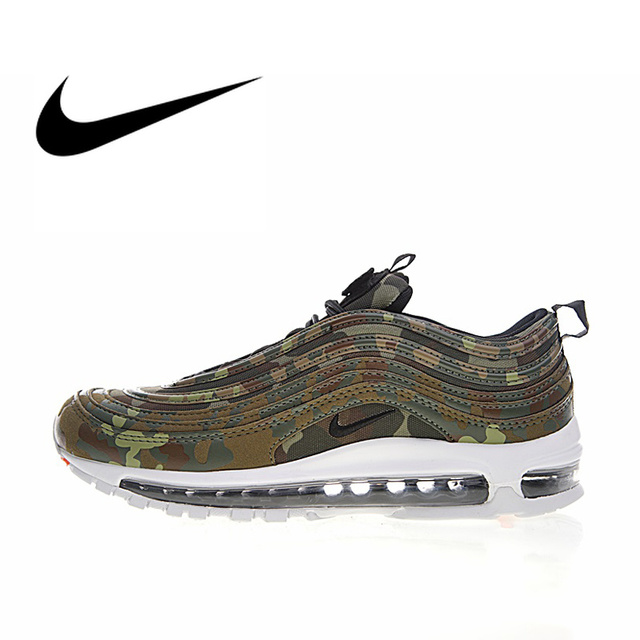 hot sales 07475 a957c US $109.55 42% OFF|Nike Air Max 97 Japan Green Camo Men's Breathable  Running Shoes Sneakers Top Quality Athletic Footwear 2018 New AJ2614 200-in  ...
