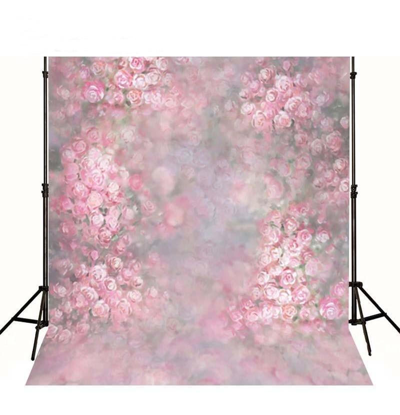 где купить Blur Bokeh Pink Spring Flower Floral backdrop Vinyl cloth High quality Computer printed wall  Photography Backgrounds по лучшей цене