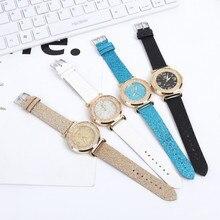 Women Watches Crystal Stainless Steel Analog Quartz Wrist Watch Bracelet 2019 New Women Metal Strap Wristwatch 0619