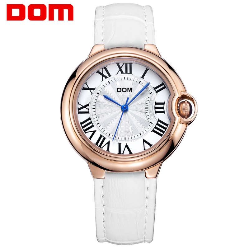 Watch Women DOM brand luxury Fashion Casual quartz watches leather sport Lady relojes women wristwatches Girl Dress G-1068GL-7M new design canvas quartz watches women fashion casual antique leather sport dress watch wristwatches clock