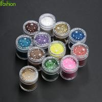 12Bottle Set 10g Gem Nail Art Glitter Powder 12 Color Super Fine Sheets Decorations Tips Nail