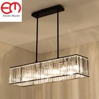 Винтажная стеклянная кристальная люстра светильник черный золотой домик американский стиль подвесной светильник освещение потолок ZDD0092