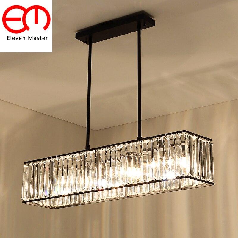 Vintage Glass Crystal Chandelier Light Fixture Black Gold Cottage American Style Lamp Hanging Light Lighting ceiling ZDD0092