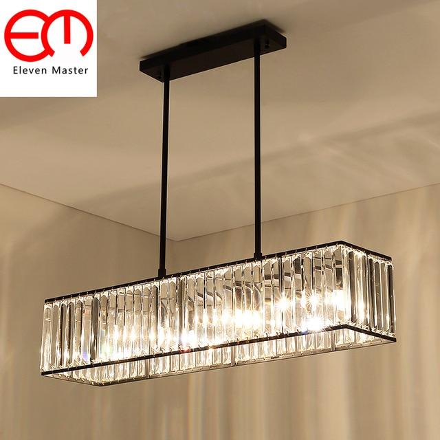 Vintage Gl Crystal Chandelier Light Fixture Black Gold Cottage American Style Lamp Hanging Lighting Ceiling