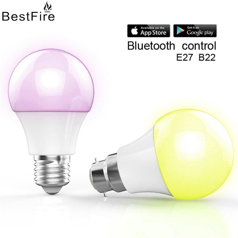 AIMIHUO Creative 4.5W smart LED mobile phone control Bluetooth light bulb APP wireless E27 dimming bulb light original xiaomi mi yeelight e27 8w white led smart light bulb smartphone app wifi control 220v