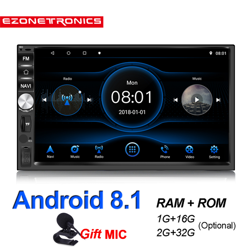 <font><b>2Din</b></font> <font><b>Android</b></font> <font><b>8.1</b></font> Quad Core DDR2G-32G Auto radio Multimedia Video Player Spiegel Link Universal Wifi Bluetooth auto Stereo GPS RDS image