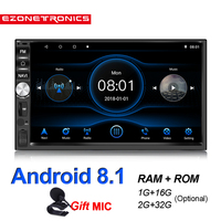 2Din Android 8.1 Quad Core DDR2G 32G Car radio Multimedia Video Player Mirror Link Universal Wifi Bluetooth auto Stereo GPS RDS