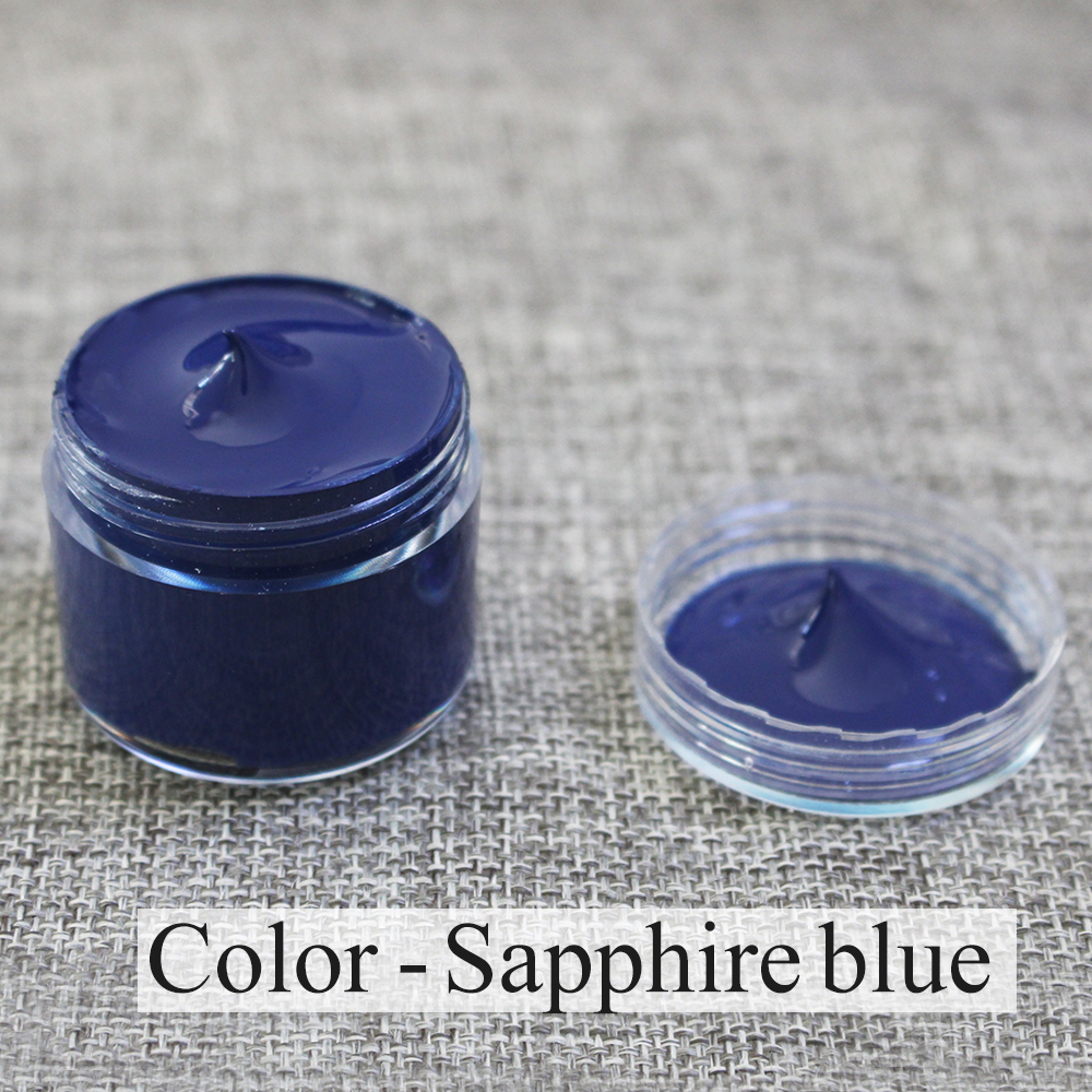 30ml Dark Blue Leather Paint For Painting Leather Bag,sofa, Shoes And Clothes Free Sponge And Gloves Acrylic Acrylic Paints