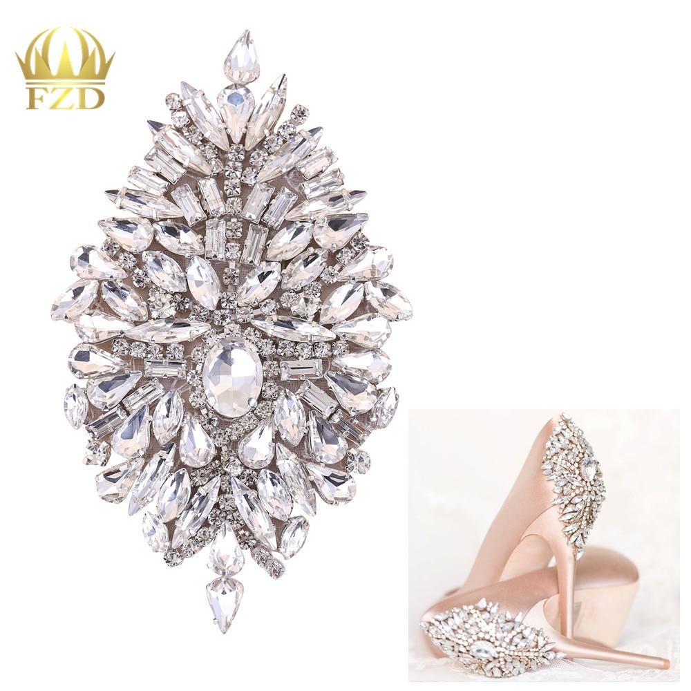 (30 Pcs)Wholesale Rhinestone Iron On Patch Motif Applique DIY Crystals Patch Rhinestone Applique  Sewing Appliques For Shoes