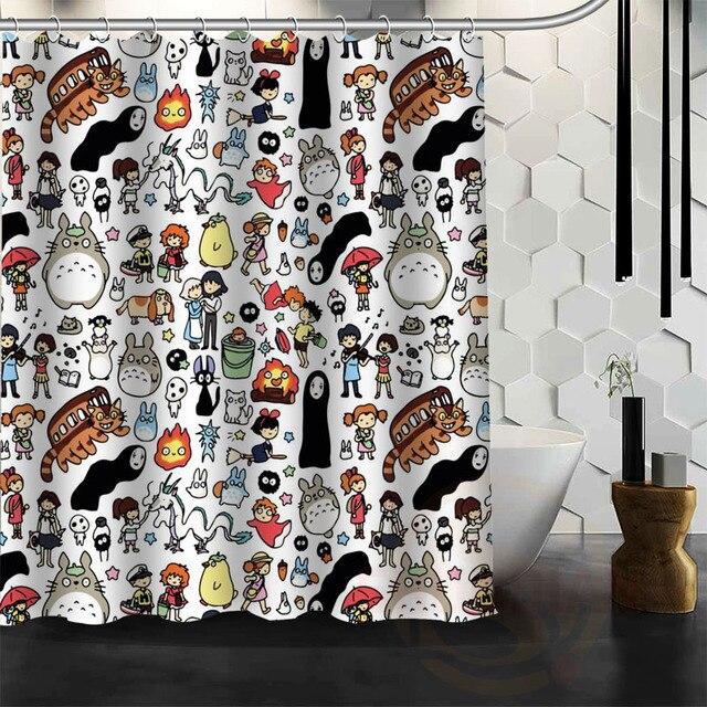 New All Studio Ghibli Character Totoro Custom Shower Curtain Bathroom Decor Bath Free Shipping