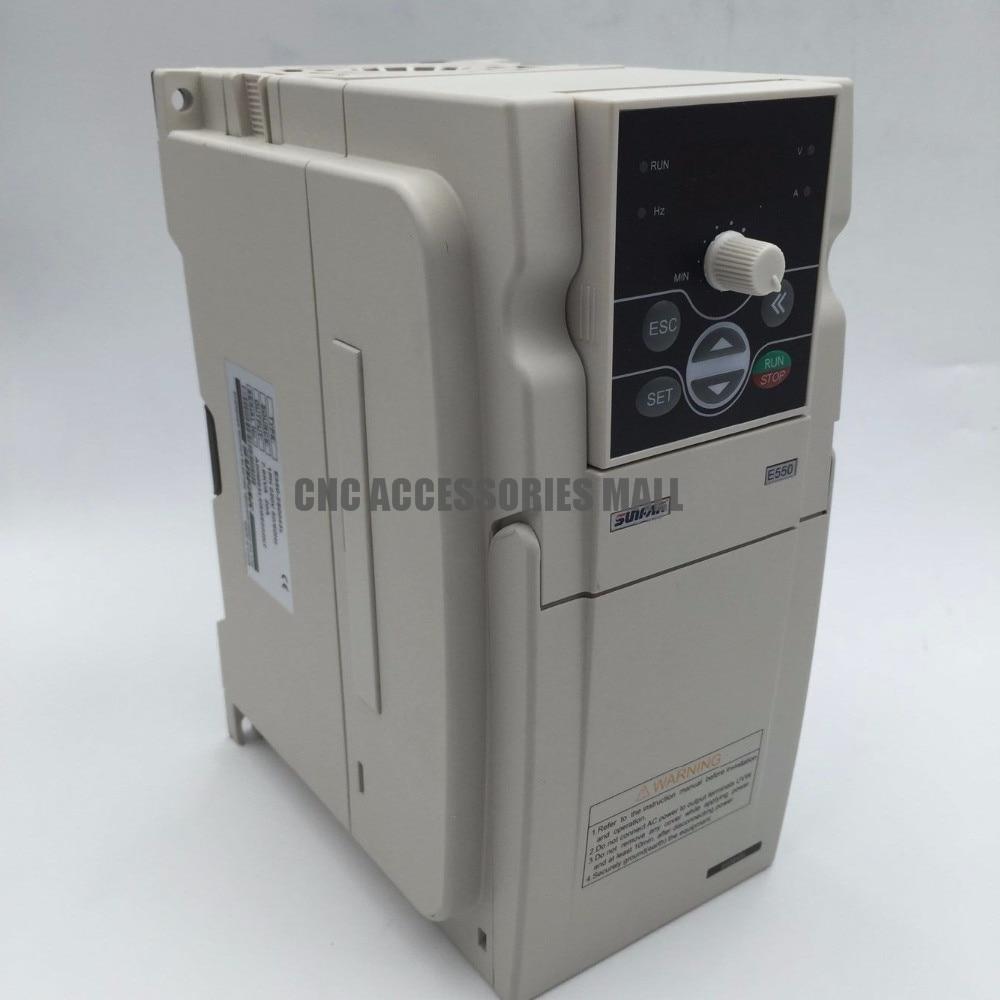 Sunfar E550 series 3HP 2.2KW VFD AC220V 0-1000HZ Frequency Inverter E550-2S0022