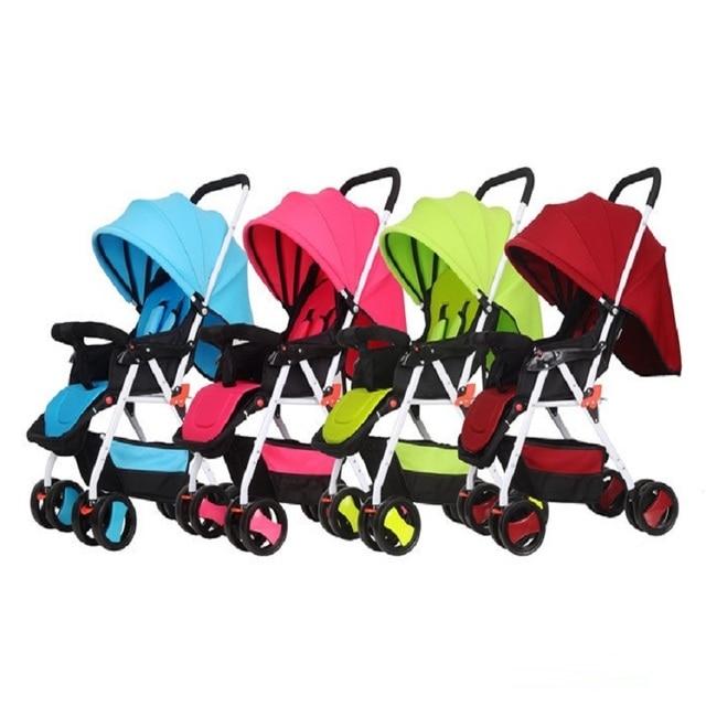 New Ultra Light Four Wheel Boarding Folding Children Stroller Baby Stroller Car Kid Carriage Buggy Pram High quality 0-3 years