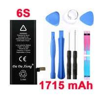 100% original marca da xiong 1715 mah genuíno li-ion bateria de substituição acessório do telefone móvel para iphone 6 s