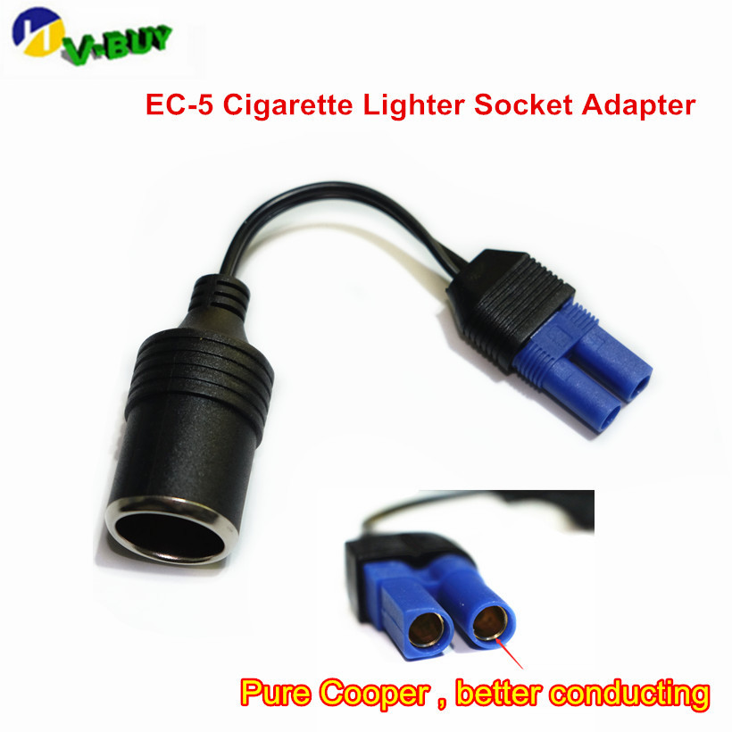 High Quality Universal DC Adapter Car Emergency Start Power Adapter Cable EC5 Picture Seat Cigarette Lighter Adapter image